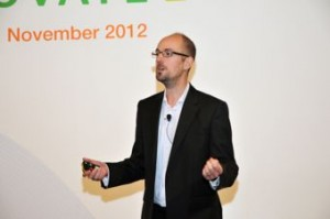 Matthew speaking at the Fuji Xerox Innovate 2012 conference in Singapore
